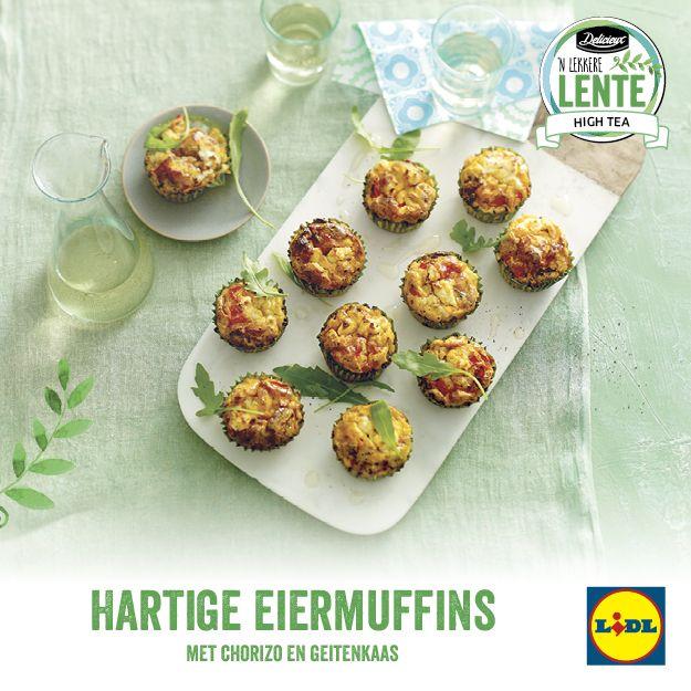 Recept voor hartige eiermuffins met chorizo en geitenkaas #Lente met #Lidl #Muffin