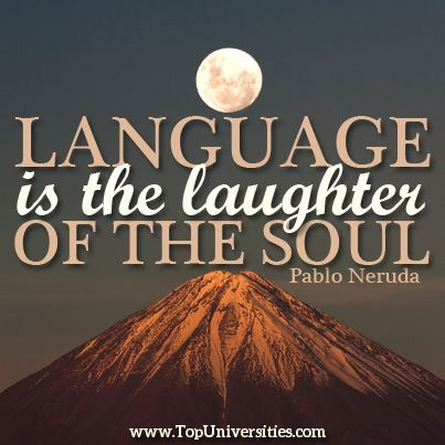 'Language is the laughter of the soul' Pablo Neruda To find out more about studying in #Chile, check out our full University Rankings for Latin America 2014 and make your own choice! http://www.topuniversities.com/university-rankings/latin-american-university-rankings/2014#sorting=rank+region=+country=+faculty=+stars=false+search= #QSWUR