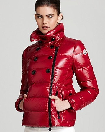 Moncler Daim Lacquer Short Down Coat | Bloomingdale's