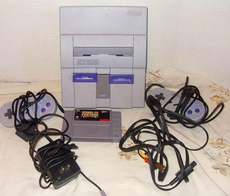 Mario SNES Super NIntendo Console And Two Controllers Working Condition Retro Vintage Video Game by suburbantreasure on Etsy