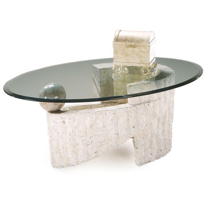 Ponte Verde Oval Glass Coffee Table 519 98 Hayneedle