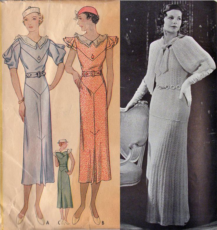 Мода и стиль 30-х годов одежда