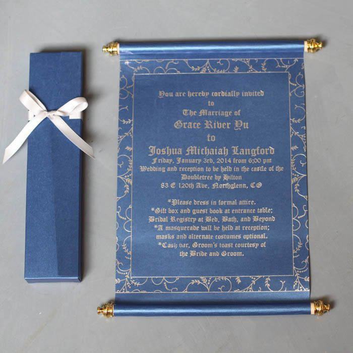 FREE SHIPPING!!! SC006 - Scroll Wedding Invitations With Box ...