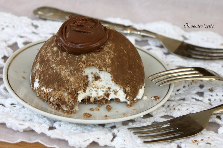 Mini+dessert+gelato+alla+vaniglia+e+nutella
