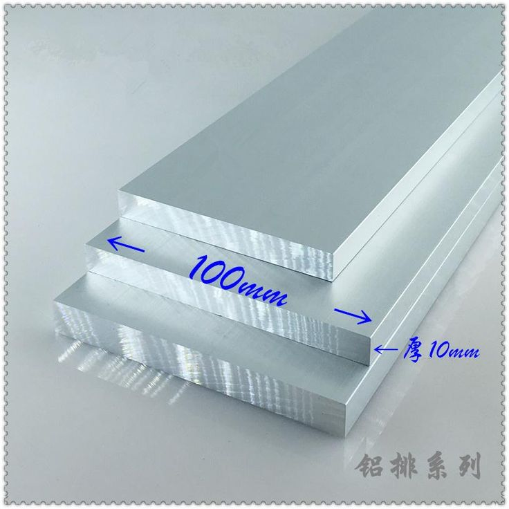 Aluminium alloy plate 10mmx100mm article aluminum 6063-T5 oxidation width 100mm thickness 10mm length 650mm 1pcs