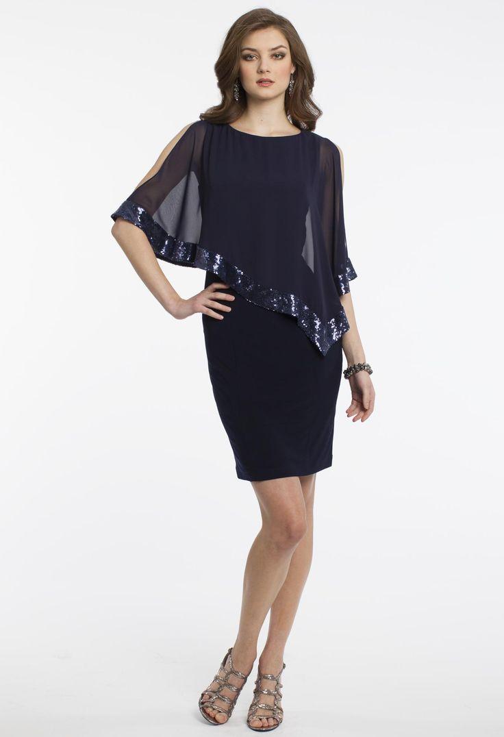 Short Cape Dress #camillelavie #CLVprom