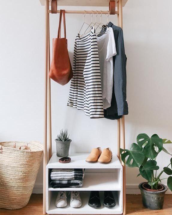 Closet para decorar quartos pequenos