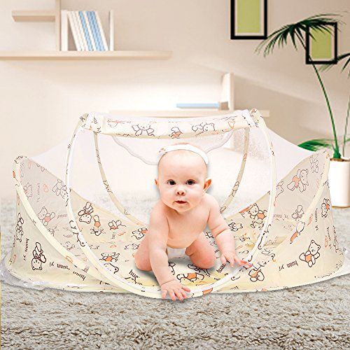 SINOTOP Baby Mosquito Ded Portable for Travel, Baby Bed Folding Baby Crib Mosquito Net Portable Baby Cots for 0-18 Month Baby (style 3)  1.SINOTOP baby mosquito bed including?mattress, pillow and mosquito net. It is better for 0-18 month baby.  2.It could keep away you baby from mosquito, flies and insects, giving your baby a safe and quiet place to sleeping.  3.It is Soft, comfortable and can prevent baby dropping down the floor, it also can prevent your baby from dust. Perfect for ou...