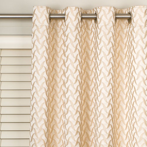 Eyelet Curtains Over Horizontal Blinds Cover It Up With