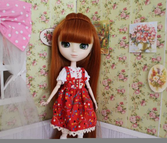 Lolita dress set in red for pulp by MotaDeAlgodon on Etsy