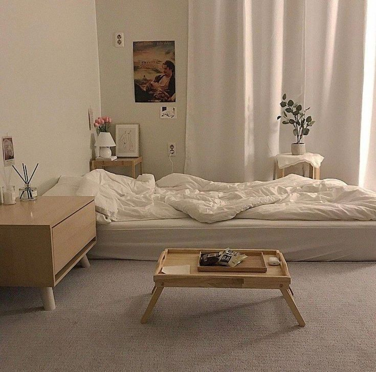 korean bedroom aesthetic room decor seoul beige coffee ...