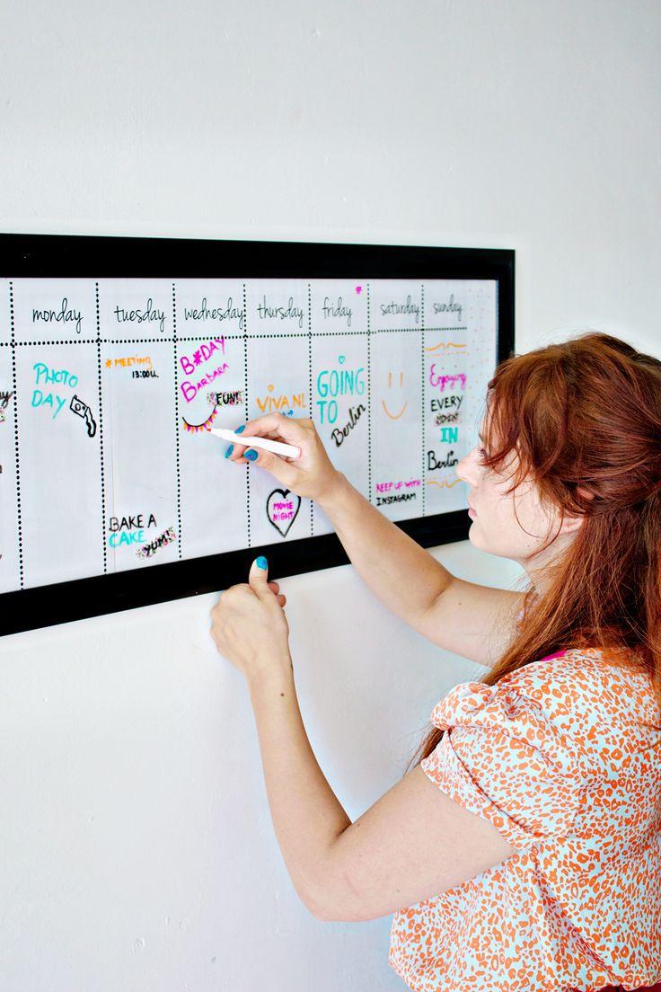 Een kalender of weekplanner die ook nog door kan voor decoratie? Ja, dat is mogelijk!
