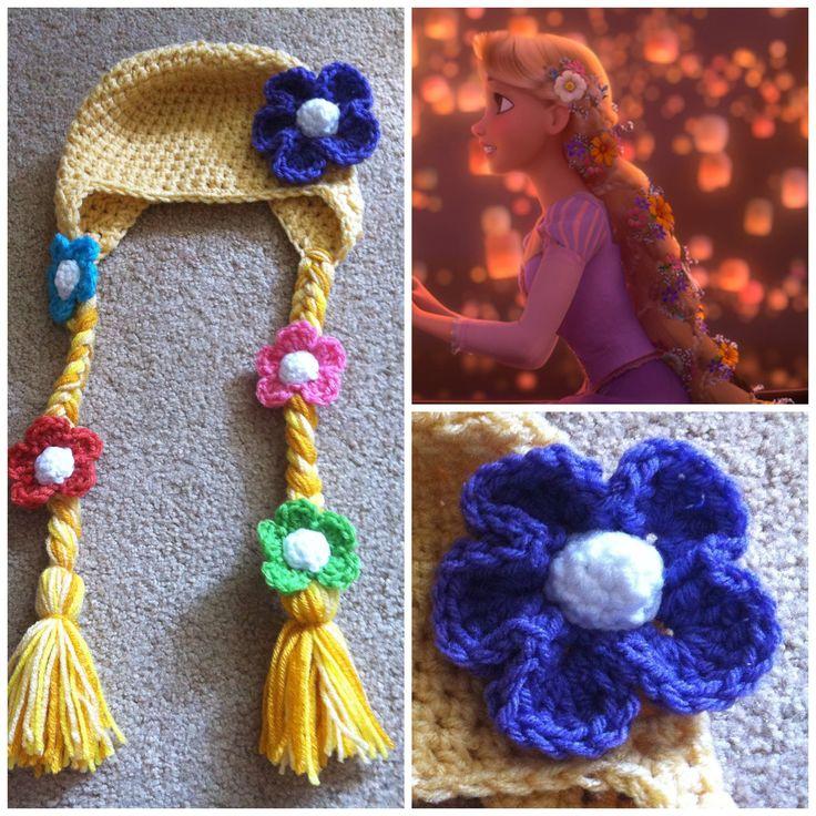 Crochet+Tangled+Rapunzel+Beanie/Hat+by+Potterfreakg+on+Etsy,+$15.00