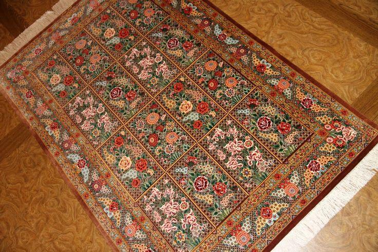 スーパーファインクオリティー手織りセンターラグシルク56099、top quality silk carpet