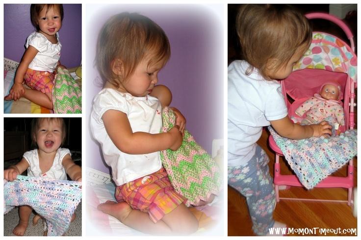 Baby Doll Blankets {Crochet Patterns}Crochet Ideas, Dolls Pattern, Dolls Blankets, Blankets Stash, Baby Blankets, Blankets Crochet, Baby Dolls Crochet Blankets, Crochet Pattern, Blankets Scrap