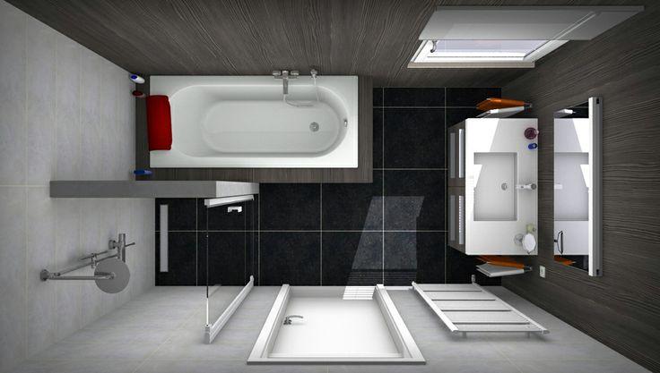 Badkamer ontwerpen bij van wanrooij ook je eigen badkamer ontwerpen gebruik gratis ons - Lay outs badkamer ...
