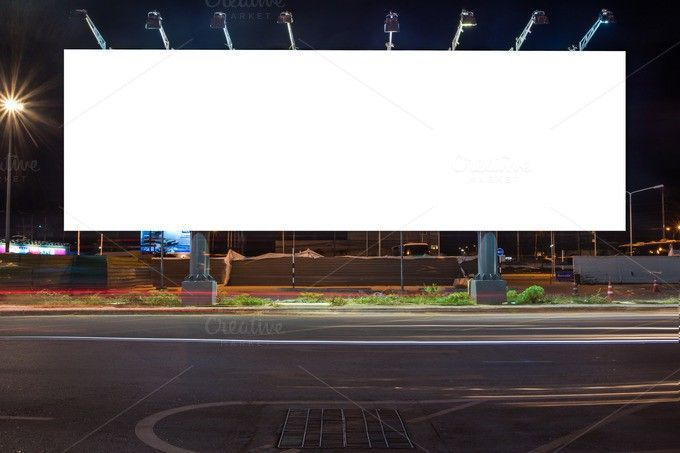 billboard at night time Poster Templates $900 Poster - advertising poster templates