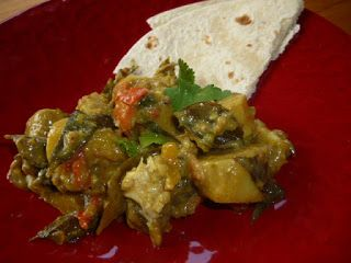 Kumara with Fish, Coconut & Curry Leaves
