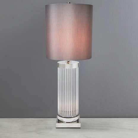 5A Fifth Avenue Clara Grey Table Lamp | Dunelm