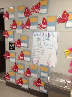 Would you help the little red hen?  Graphing & writing activity