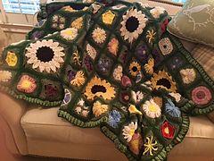 Ravelry: Afghaniac's Wildflowers afghan