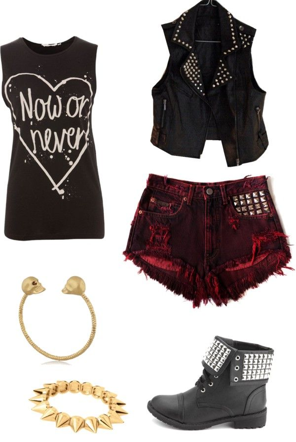 """Punk Studded"" by marrbearr ❤ liked on Polyvore"