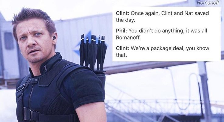 I ship Clintasha so hard man. I mean I know what they did in AOU, but still Clintsaha