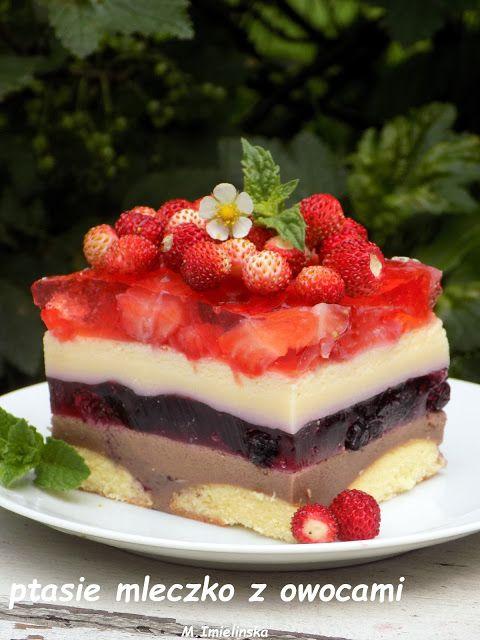Domowa Cukierenka - Domowa Kuchnia: letnie ptasie mleczko z owocami