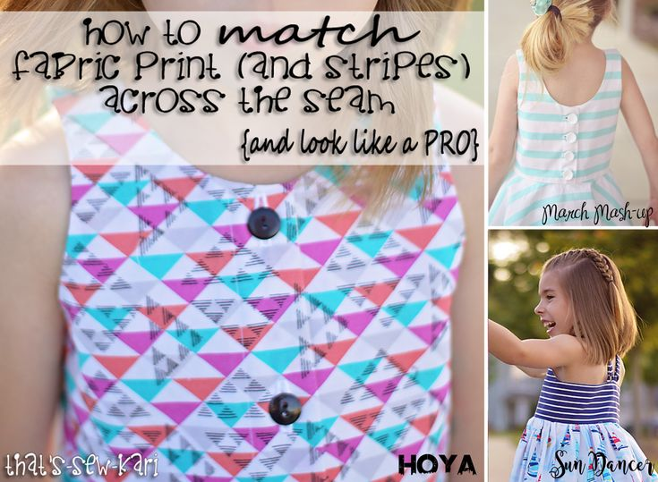 {Tutorial} How to Match Fabric Print (and Stripes!) Across the Seam | That's-Sew-Kari