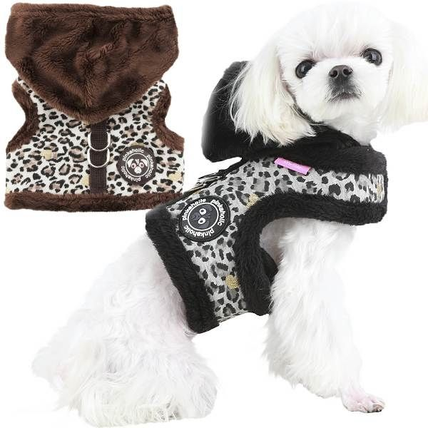 Designer Dog Harness Pink Teacup Harness Vest Pink Harness Vest Teacup Dog Harness Leopard Print Dog Harness Small Dog Harness
