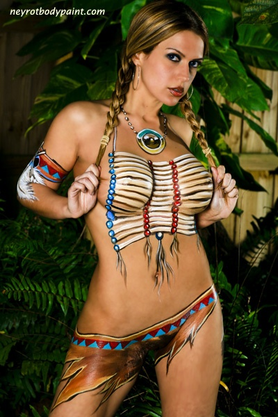 cosplay nude body paint