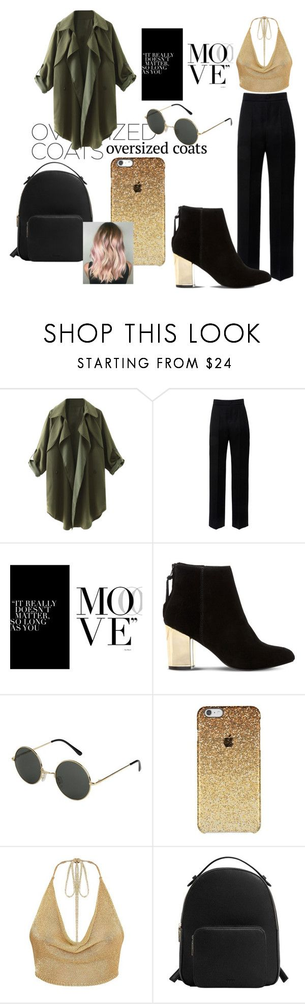 """semi-casual gold outfit"" by pjmislifeu99 ❤ liked on Polyvore featuring Lanvin, Steve Madden and MANGO"
