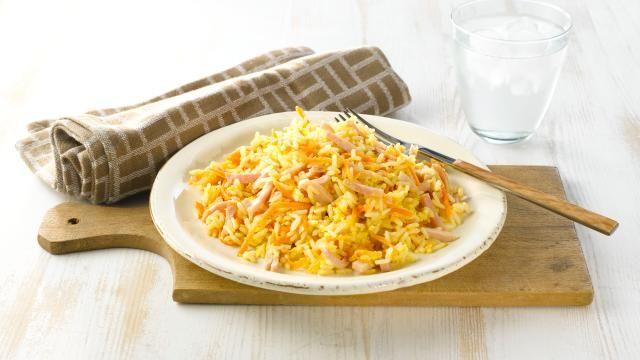 Oppskrift på Stekt ris med skinke og egg, foto: