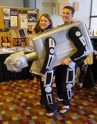 Two person AT-AT costume by Matt & Kristy on Flickr