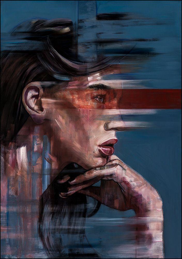 """""""Veil"""", 120 x 84cm, Acrylic & Oil on Canvas"""