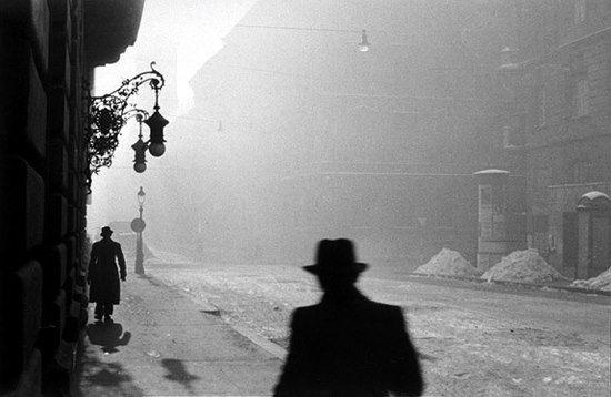 © Gabor Szilasi. Hiver, Budapest 1955.
