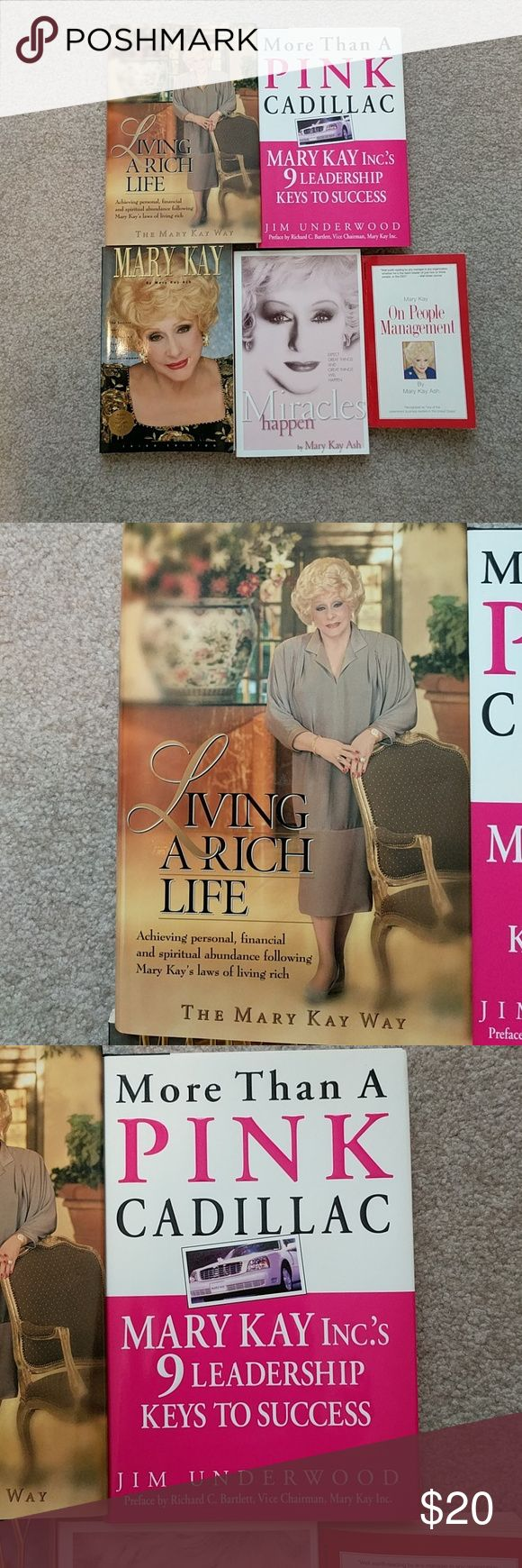 Mary Kay books Set of 5 Mary Kay books sure to inspire you in your business! All in excellent condition. Mary Kay Other