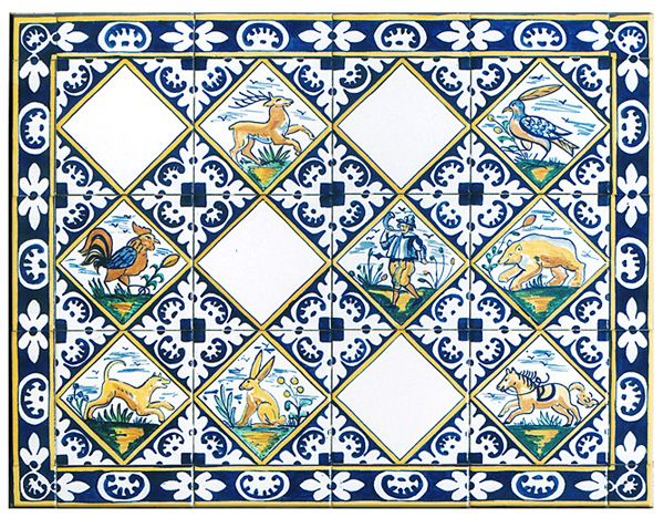 Tiles pinterest delft hunting for Suelo marmol beige