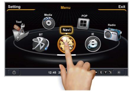"Autoradio GPS DVD Ford Ecosport 2013 avec écran tactile 7"" TNT 3G WIFI bluetooth SD USB"