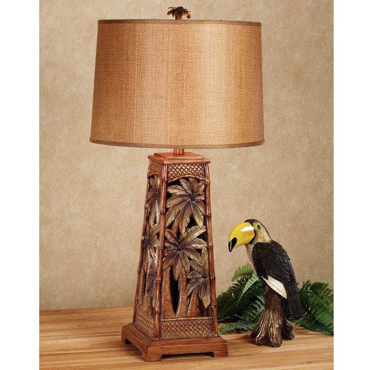 tropical forest palm tree table lamp homes furnishings pinterest. Black Bedroom Furniture Sets. Home Design Ideas