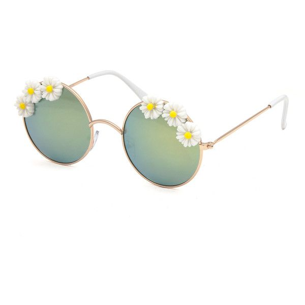 Full Tilt Daisy Daze Girls Sunglasses ($7.99) ❤ liked on Polyvore featuring accessories, eyewear and sunglasses