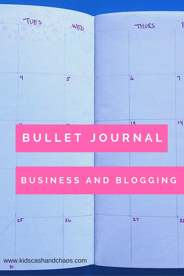 Bullet Journal Spreads for Business and Blogging