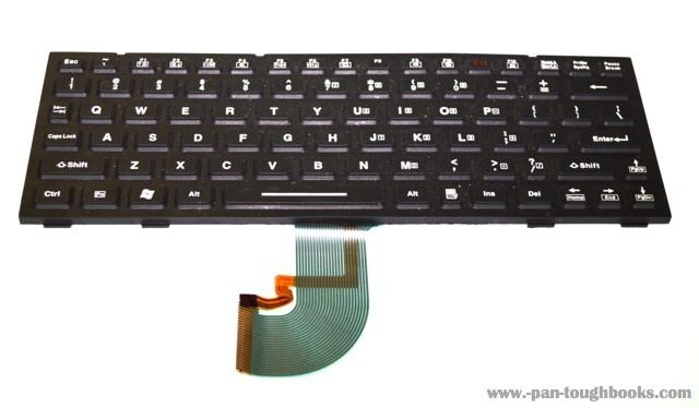 Panasonic Toughbook CF-18 / CF-19 Rubber Backlit Keyboard. P/N: N860-1434-T001/03. Available for purchase at www.pan-toughbooks.com #Toughbook