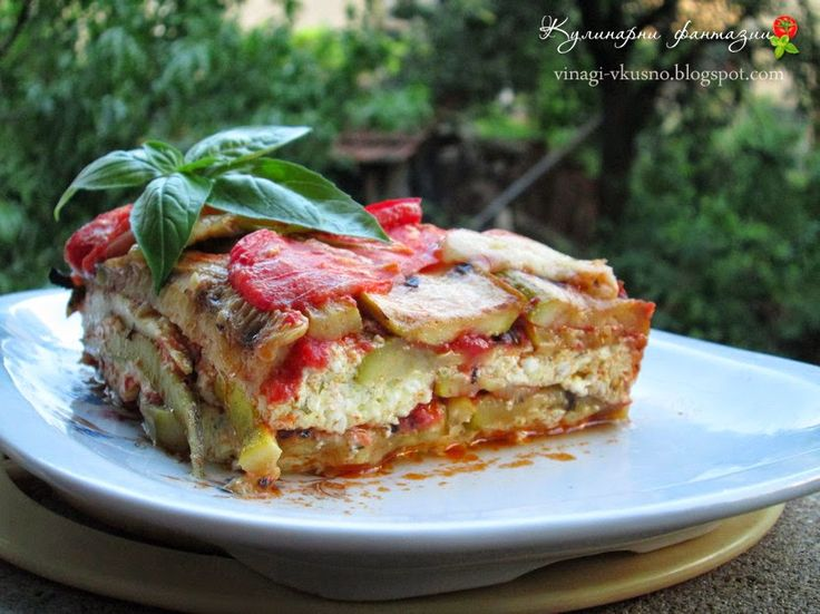 Лазаня от тиквички/ Zucchini lasagna with cheese and a tomato sauce