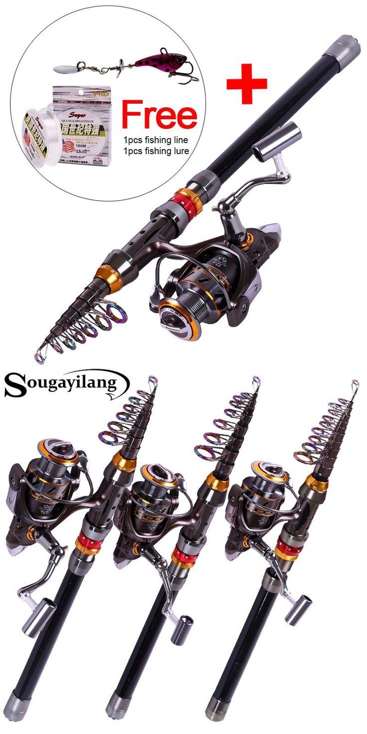 [Visit to Buy] Sougayilang 1.8-3.6m Telescopic Rod and 12+1BB Reel Set Fishing 99% Carbon Materials of Rod Carp Fishing Rod and Reel Combo Kit #Advertisement