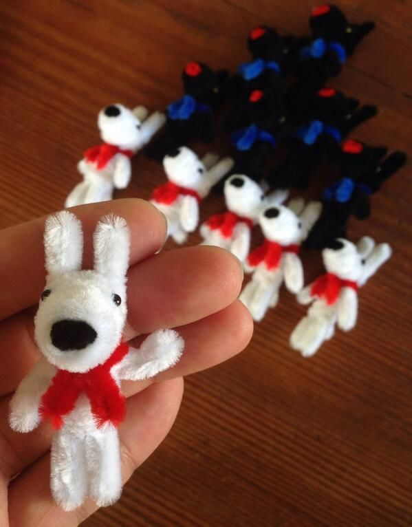 Pipe cleaner art kit of Gaspard and Lisa have been pre-release in Hankyu Department Store in Japan.