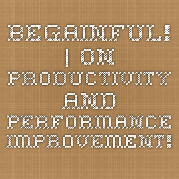 BeGainful! | On Productivity and performance improvement!