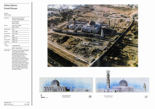 Presentation panel with aerial view and elevation drawings   Archnet