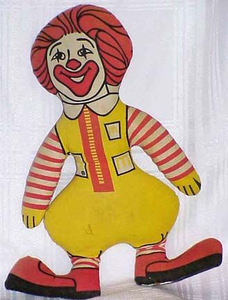 I got a ronald mcdonald doll one year when i had my birthday there