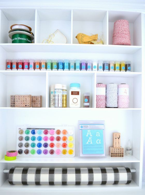 Easy craft room organization via The Inspired Home